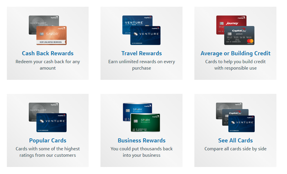 capital one top cards